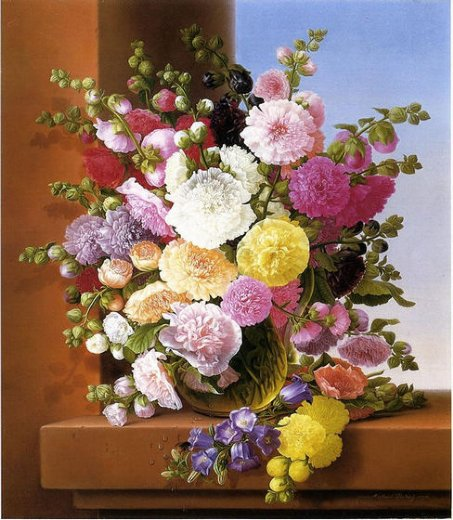 adelheid dietrich still life of flowers paintings