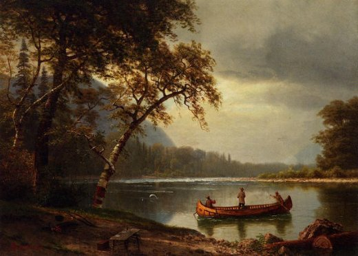 albert bierstadt salmon fishing on the cascapediac river paintings