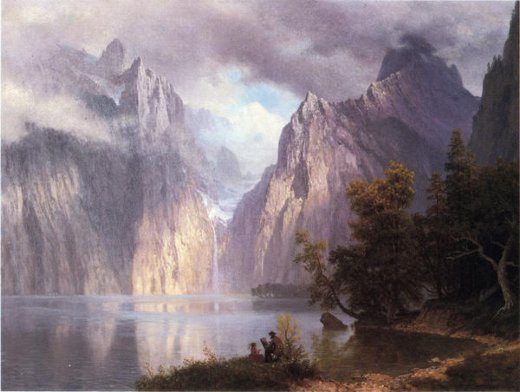 albert bierstadt scene in the sierra nevada paintings