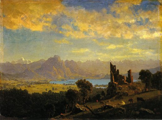 albert bierstadt scene in the tyrol painting