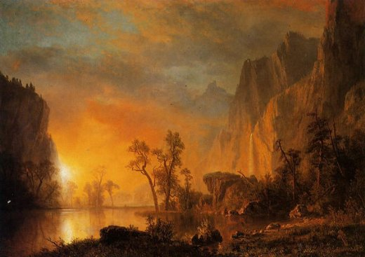albert bierstadt sunset in the rockies paintings