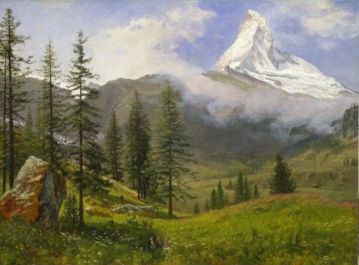 albert bierstadt the matterhorn painting