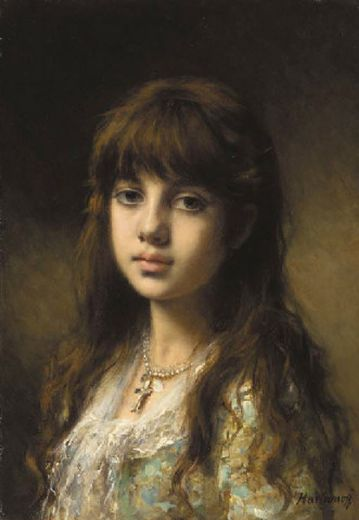 alexei alexeivich harlamoff little girl painting