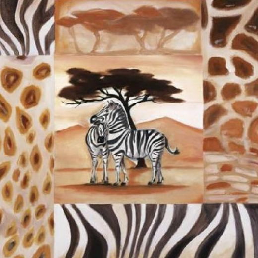 alfred gockel animals of the veldt zebras painting