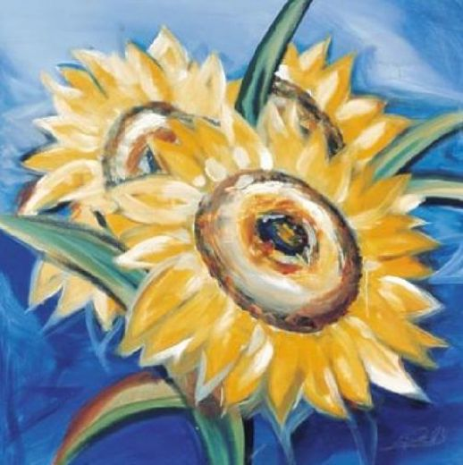 alfred gockel bold sunflowers painting