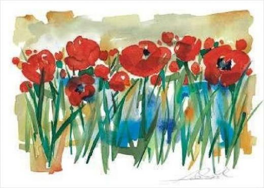 alfred gockel field of poppies paintings