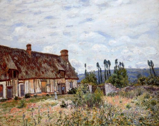 alfred sisley abandoned cottage paintings