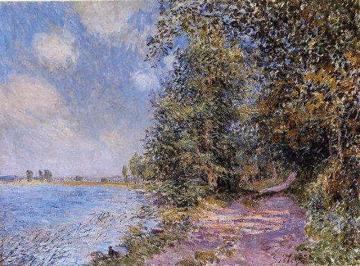 alfred sisley an august afternoon near veneux prints