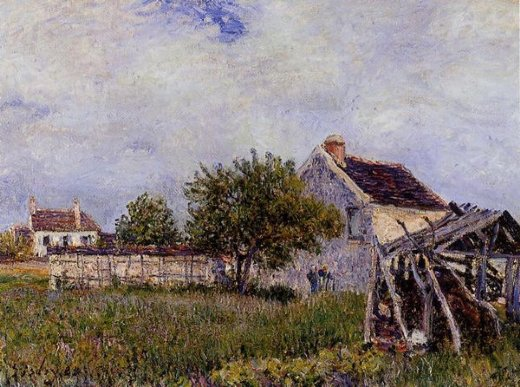 alfred sisley an old cottage at sablons painting