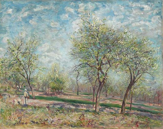 alfred sisley apple trees in bloom paintings