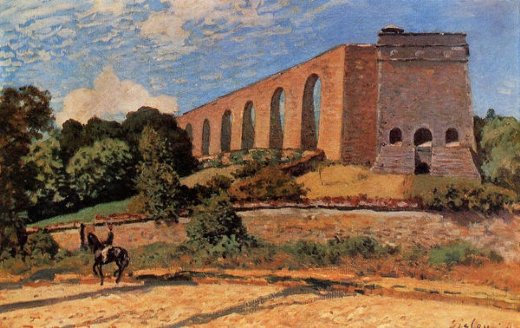 alfred sisley aqueduct at marly paintings