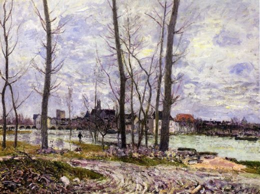 alfred sisley flood at moret paintings