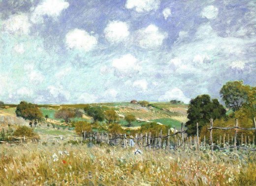 alfred sisley meadow painting