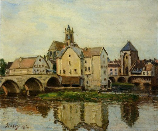 alfred sisley moret painting