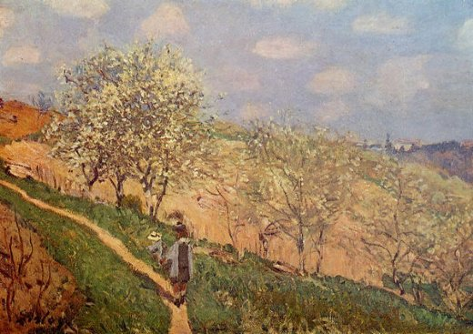 alfred sisleyspring in bougival Painting-37410