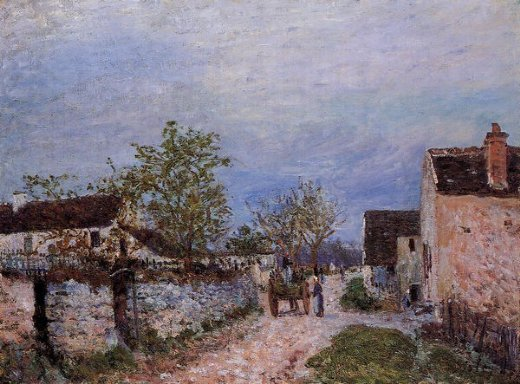 alfred sisley street in veneux paintings