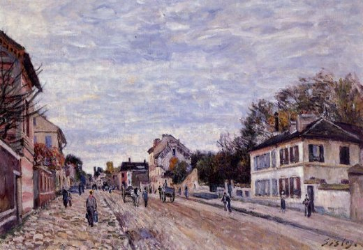 alfred sisley street scene in marly paintings