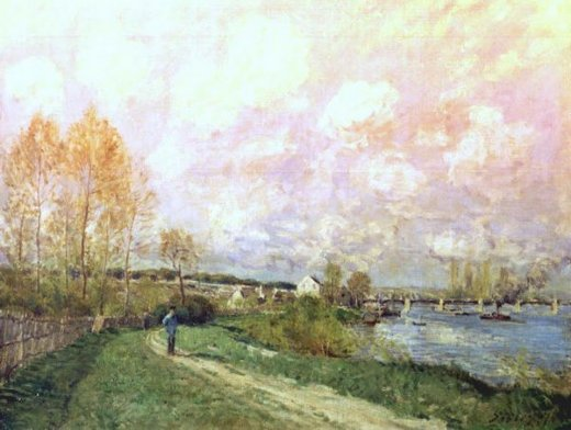 alfred sisley summer at bougival painting