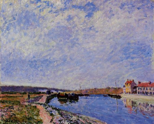alfred sisley the barge port and saint paintings