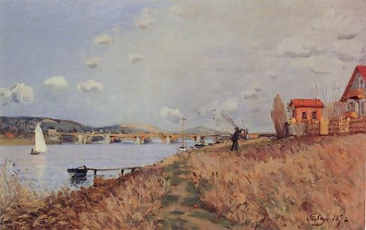 alfred sisley the bridge at argenteuil painting