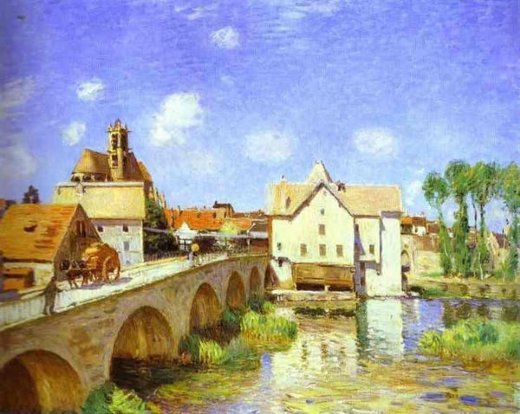 alfred sisley the bridge at moret posters