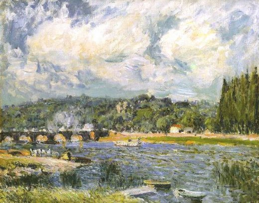 alfred sisley the bridge of sevres paintings