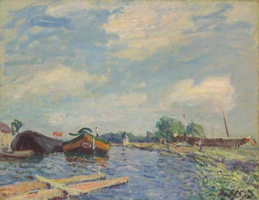alfred sisleythe canal at saint Painting-37434