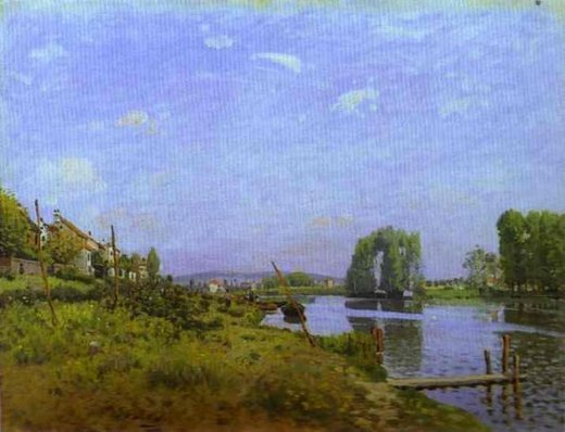 alfred sisley the island of saint posters