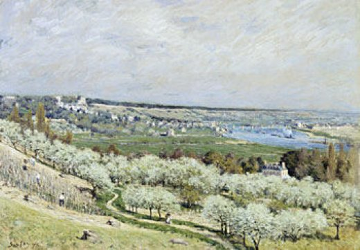 alfred sisley the terrace at saint paintings