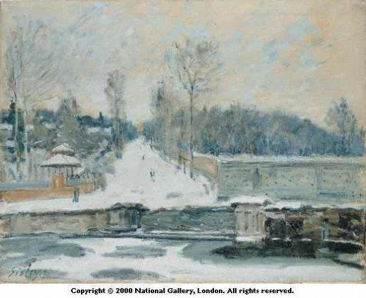 alfred sisley the watering place at marly paintings