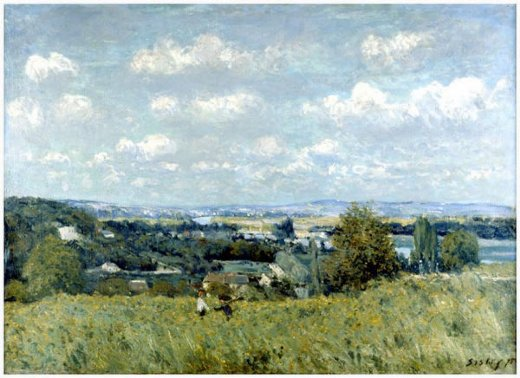 alfred sisley valley of the seine at saint painting