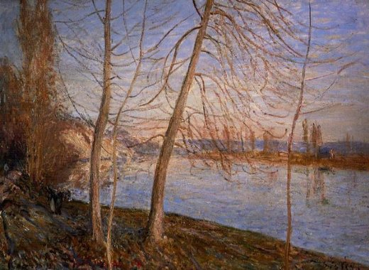 alfred sisley winter morning painting