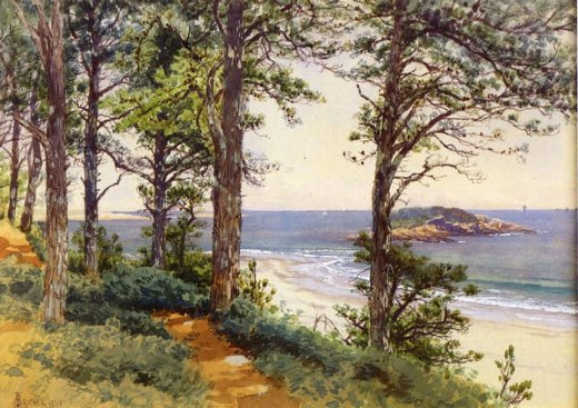 alfred thompson bricher narragansett seascape painting