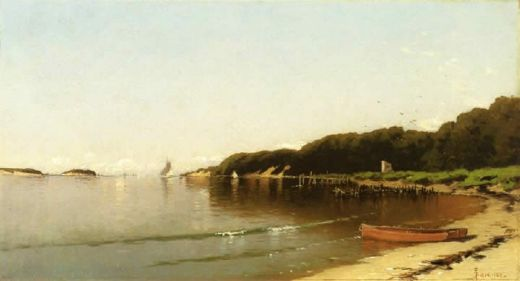 alfred thompson bricher sailing off the new england coast paintings