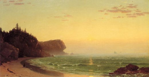 alfred thompson bricher seascape sunset painting