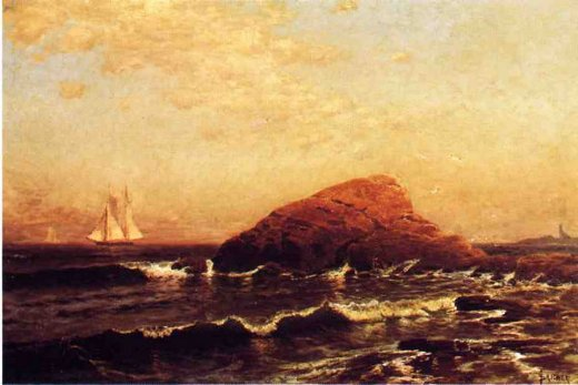 alfred thompson bricher the lion rock newport painting