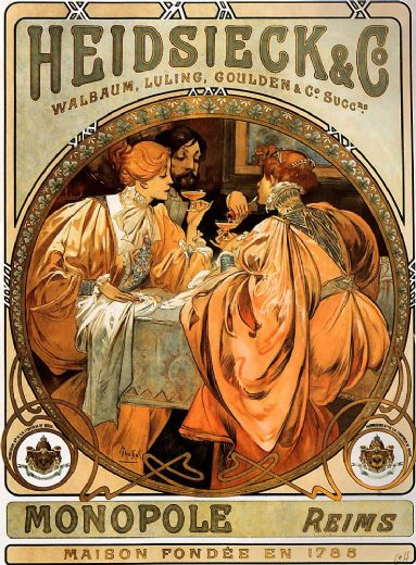alphonse maria mucha heidsieck and co painting