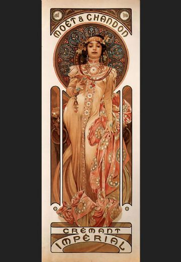 alphonse maria mucha moet and chandon cremant imperial paintings