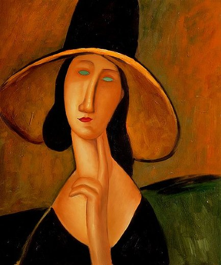 amedeo modigliani portrait of woman in hat paintings