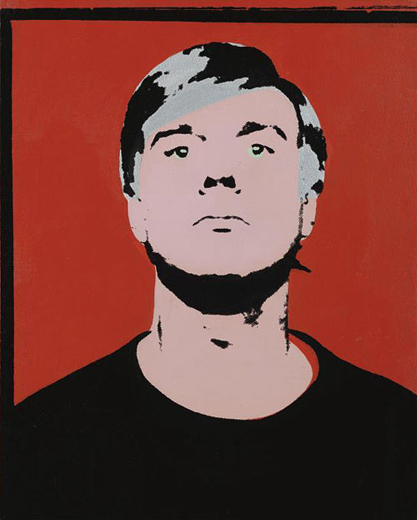andy-warhol-self-portrait painting