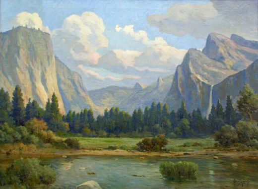angel espoy yosemite valley painting