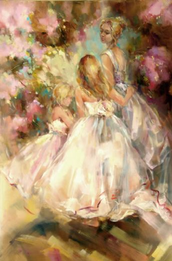 anna razumovskaya spring blossom paintings