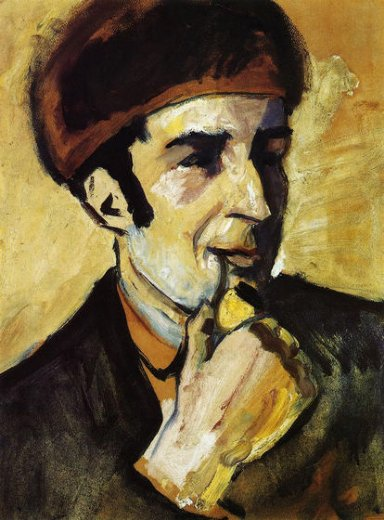 august macke portrait of franz marc painting