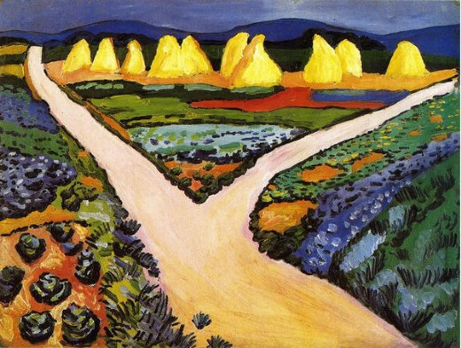 august macke vegetable fields painting
