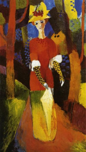 august macke woman in park painting