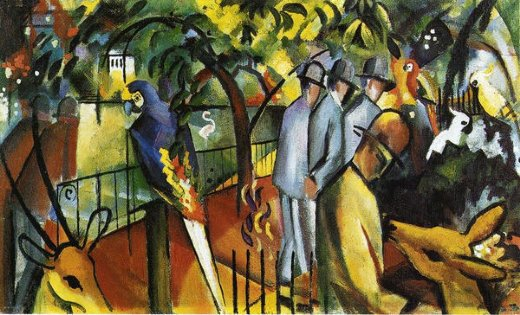 august macke zoological garden i painting