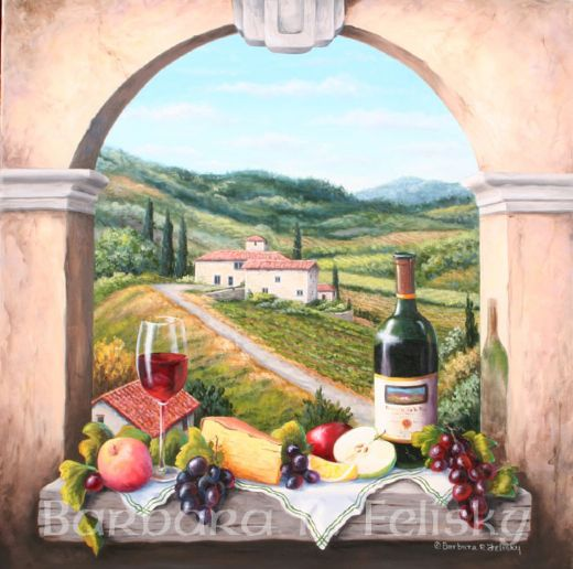 barbara feliskyscene with the vinyard road Painting-82317