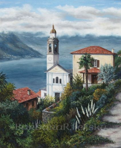 barbara felisky the church at nesso paintings
