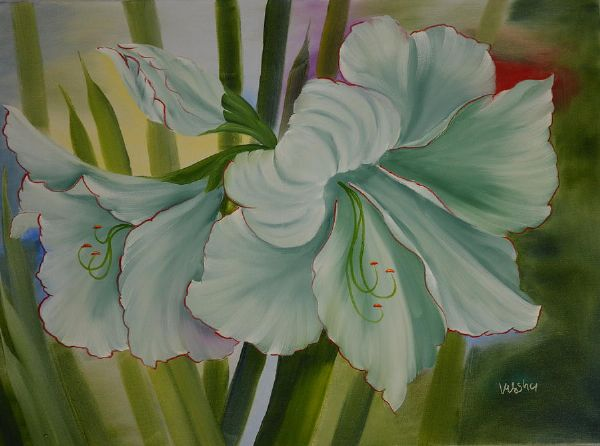 bob ross amaryllis flower 85933 painting