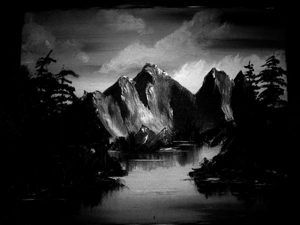 bob ross ansel adams 85973 painting
